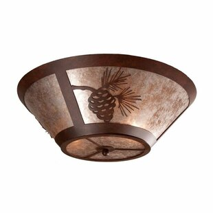 Pinecone 2-Light Flush Mount by Steel Partners
