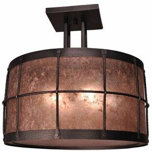 Steel Partners Ferron Forge 4-Light Semi Flush Mount