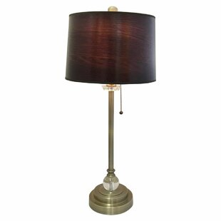 Gabriely Wood Texture Hardback 28 Table Lamp (Set of 2)