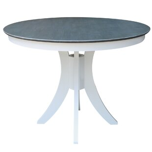 Round Fixed Top Pedestal Counter Height Pub Table