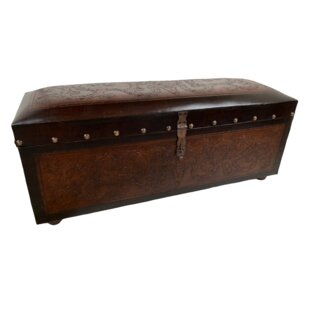 Raylee Genuine Leather Bench
