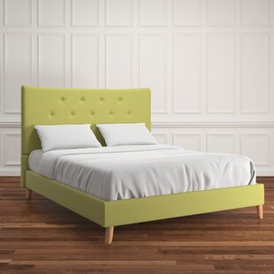 Stearns Linen Bed by Wrought Studio