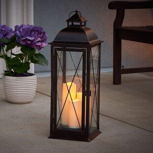 Traditional Metal Lantern by Three Posts