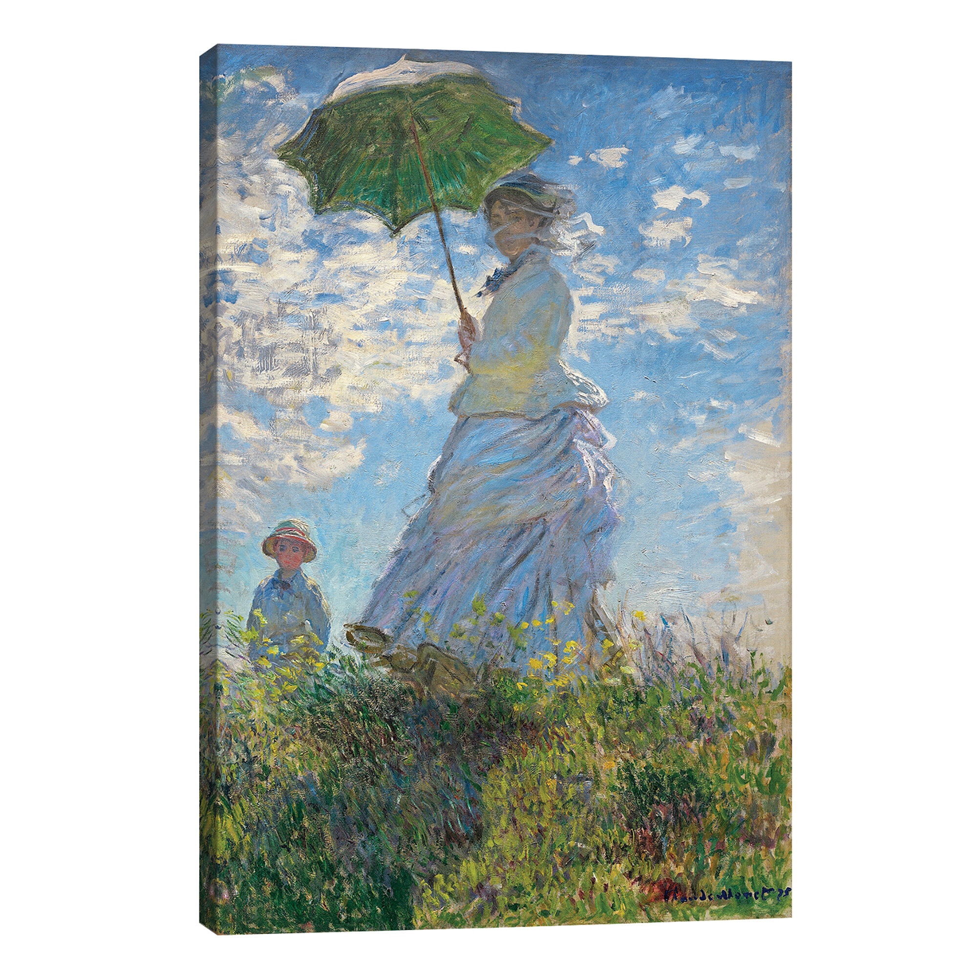 Rosalind Wheeler Woman With A Parasol Madame Monet And Her Son 1875 By Claude Monet Wrapped Canvas Painting Print Wayfair Co Uk