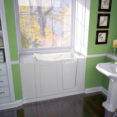 Acrylic 51 x 30 Walk-In Air/Whirlpool Bathtub with Air Spa American Standard Color: White, Drain Location: Right