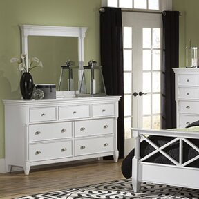 McLelland 7 Drawer Dresser With Mirror by DarHome Co Top Reviews