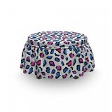 Animal Skin Watercolors Ottoman Slipcover (Set of 2) by East Urban Home