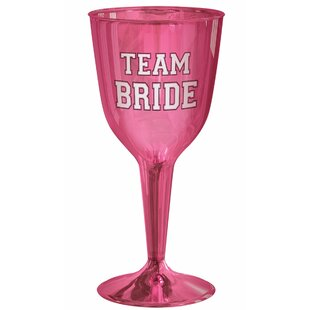 Bachelorette Team Bride Plastic Disposable Wine and Chapmagne (Set of 32)
