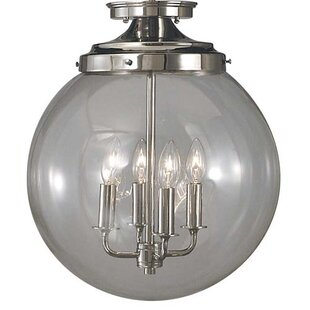 Rayleigh 4-Light Semi Flush Mount by Darby Home Co