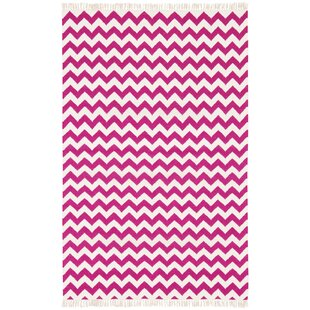 Hacienda Purple/White Chevron Area Rug By St. Croix