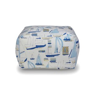 Sail Away Square Pouf by The 1st Chair