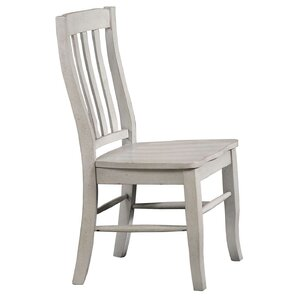 Rutledge Rake Back Solid Wood Dining Chair (Set of 2) by Rosecliff Heights