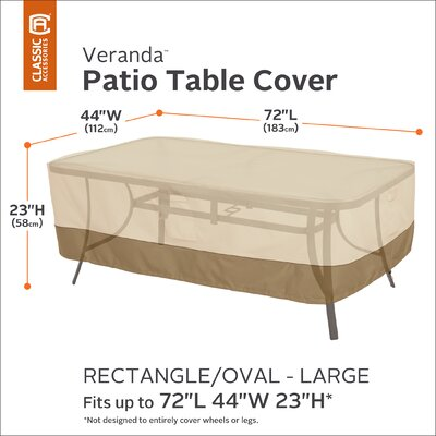 Freeport Park Donahue Water Resistant Patio Table Cover