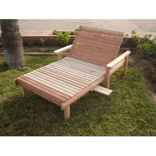 Henry Rustic Beach Wide Wood Chaise Lounge