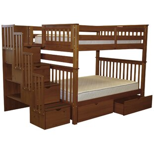Online Reviews Tena Full over Full Bunk Bed with Extra Storage ByHarriet Bee