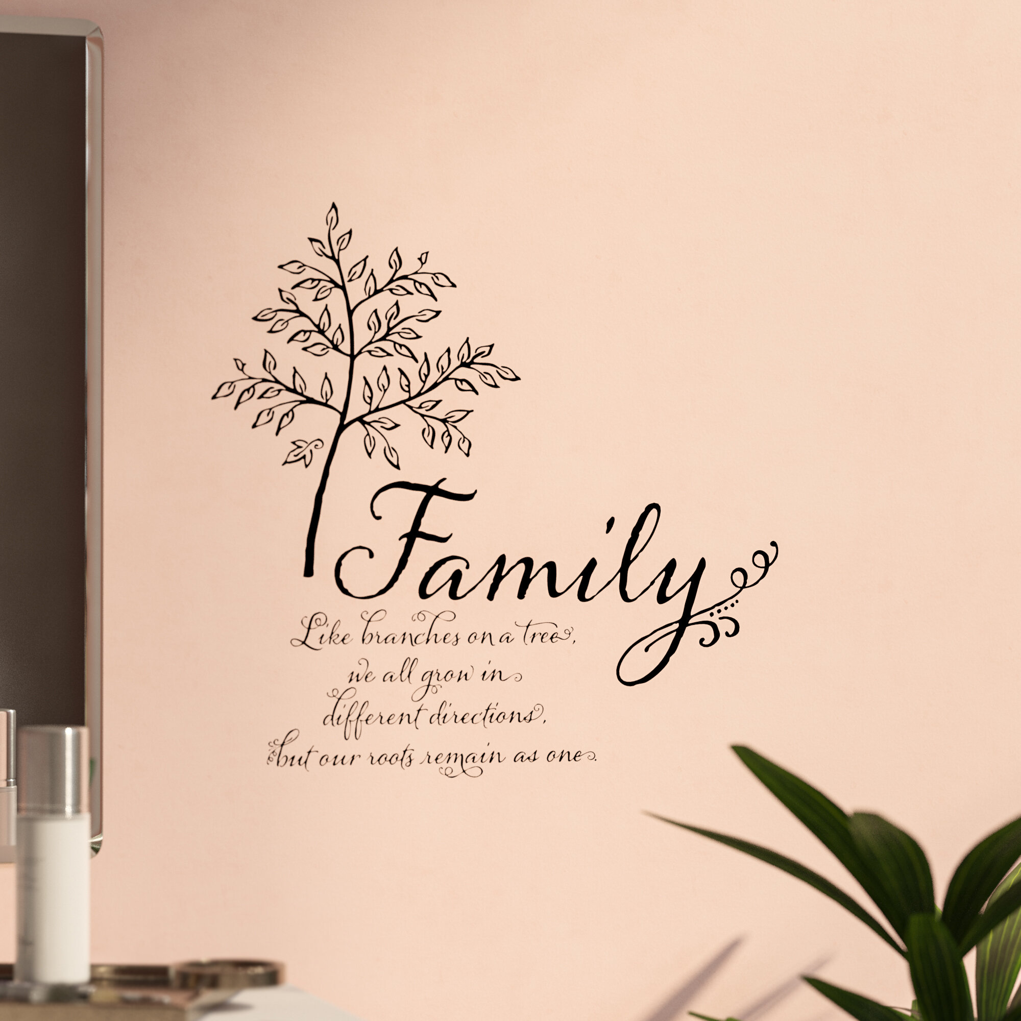 A HOUSE BUILT LOVE DREAMS Wall Decal Wall Sticker Home and Living Wall Art Decal