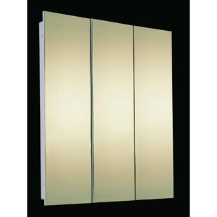 Bradyn 60 x 36 Recessed Frameless Medicine Cabinet with 4 Shelves by Orren Ellis