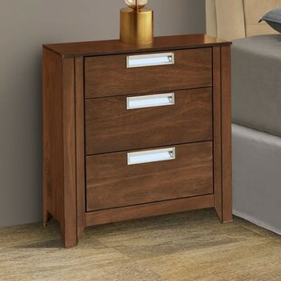 Solar 3 Drawer Nightstand