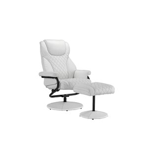Winston Porter Hoffman Reclining Executive Chair with Footstool