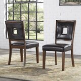 Paugh Upholstered Side Chair in Dark Brown (Set of 2) by Williston Forge