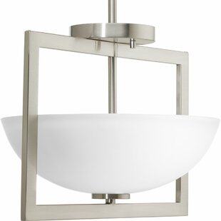 Orren Ellis Urmee 2 Light Semi Flush Mount