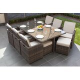 Cranon 11 Piece Dining Set with Cushions