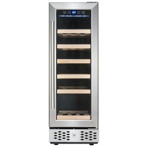 18 Bottle Compressor Adjustable Single Zone Built-in/Freestanding Wine Cooler by AKDY