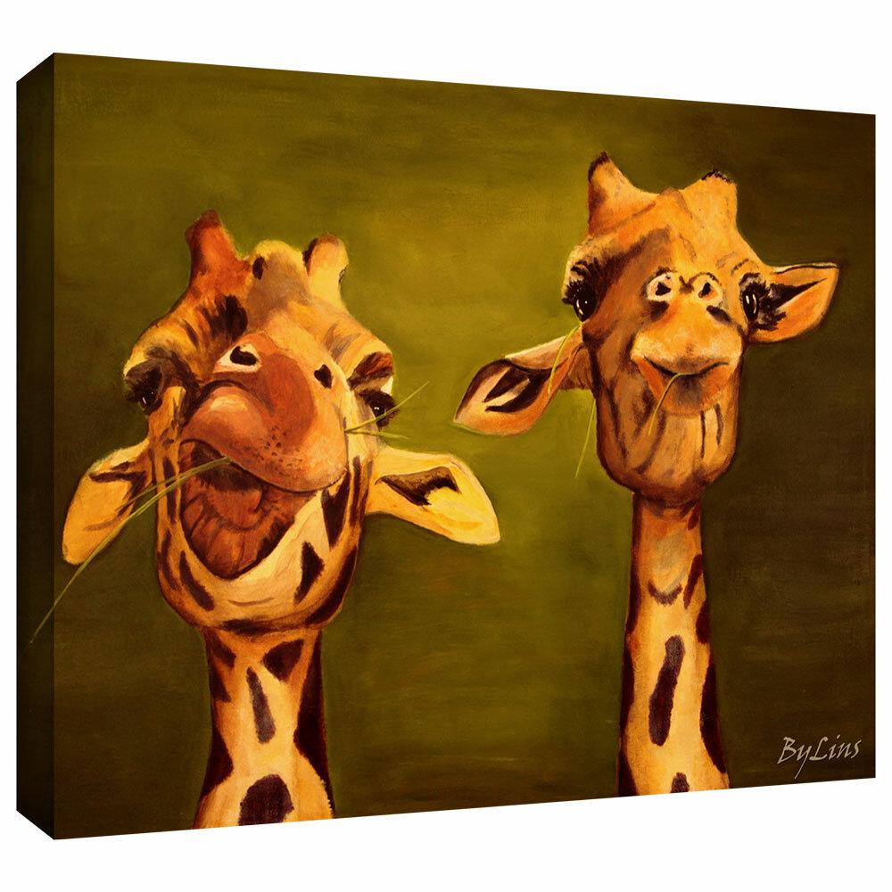 Bloomsbury Market Giraffe Buddies Graphic Art On Wrapped Canvas Reviews Wayfair