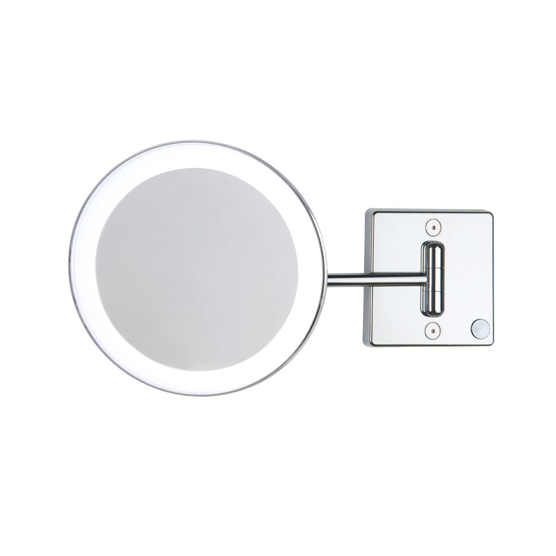 WS Bath Collections Pure III LED Lighted 3x Magnifying Makeup Bathroom/Vanity Mirror