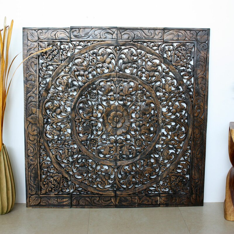 Strata Furniture Lotus Panel in Recycled Teak Wall Décor & Reviews ...