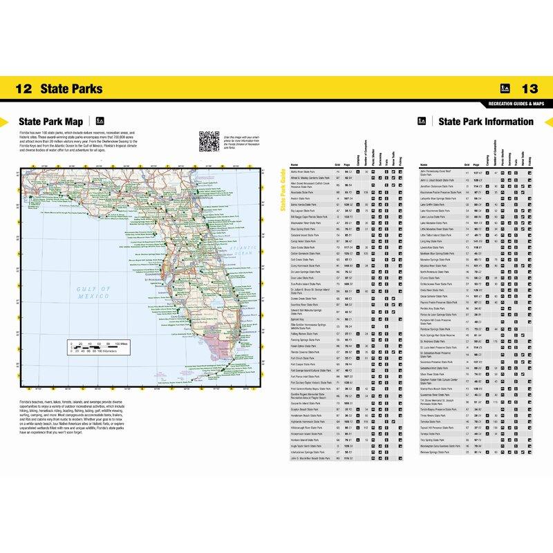 Florida State Park Map.National Geographic Maps Florida State Recreation Atlas Wayfair