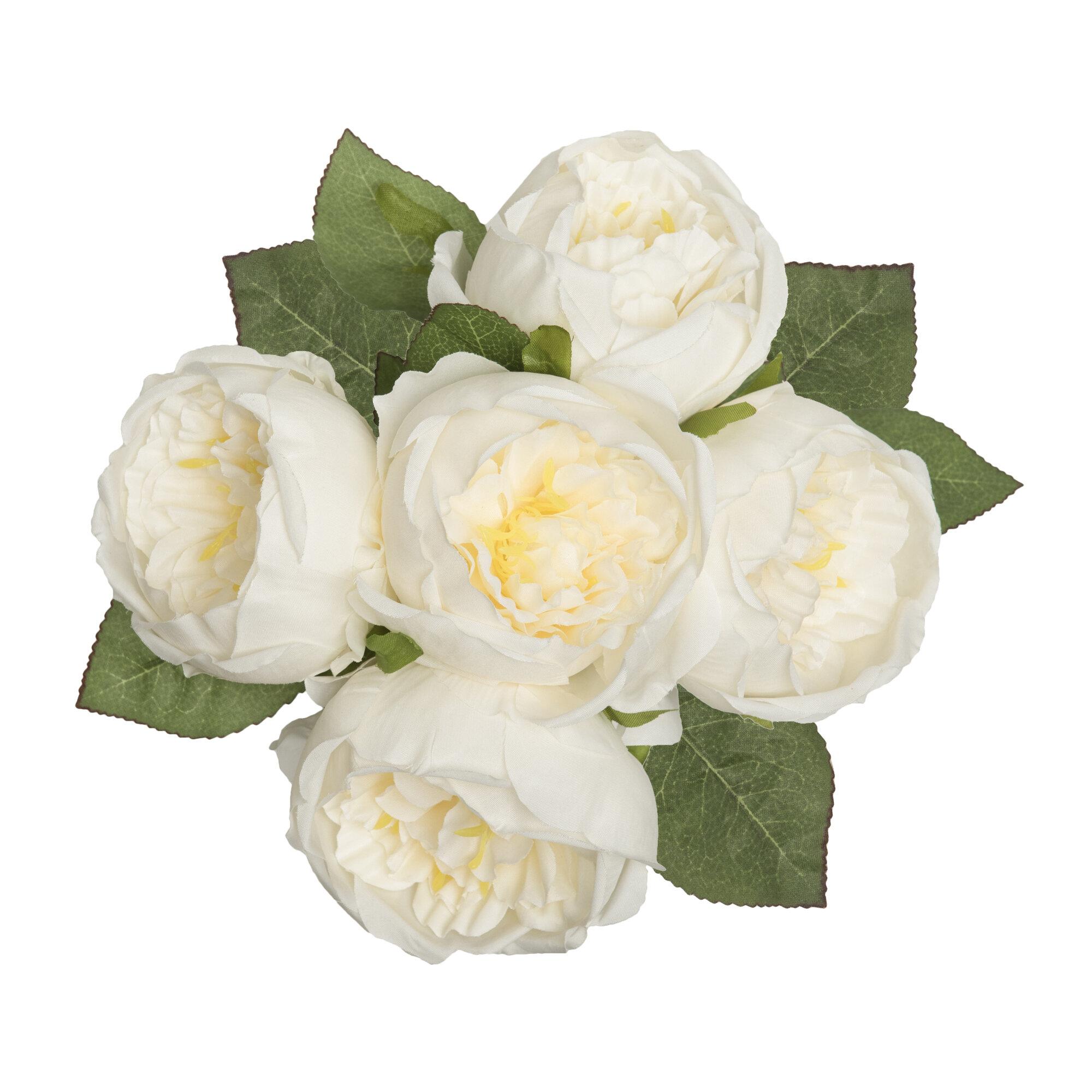 Le Prise Artificial Peony Silk Flower Centerpiece Reviews Wayfair