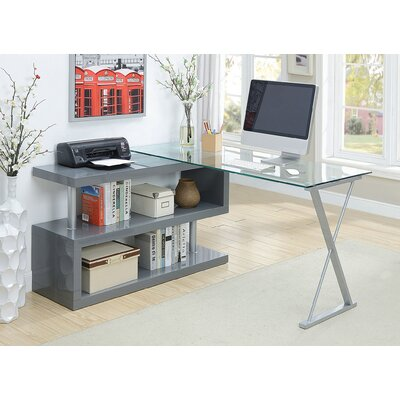 Folden Computer Desk Color: Gray by Brayden Studio