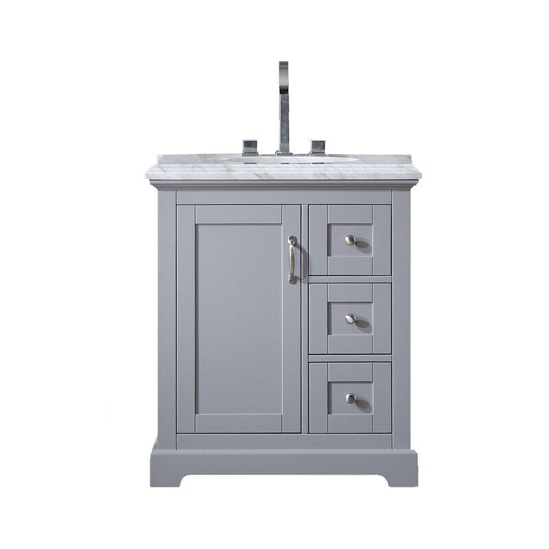 Eviva Houston Grey Bathroom Vanity Set Perigold