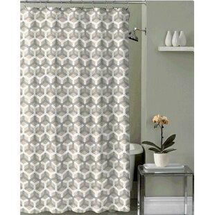 Yellow Fabric Shower Curtain