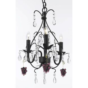 Clemence 3-Light Candle Style Chandelier by Rosdorf Park