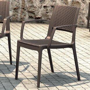 Brayden Studio Ramseur Stacking Patio Dining Chair (Set of 2)