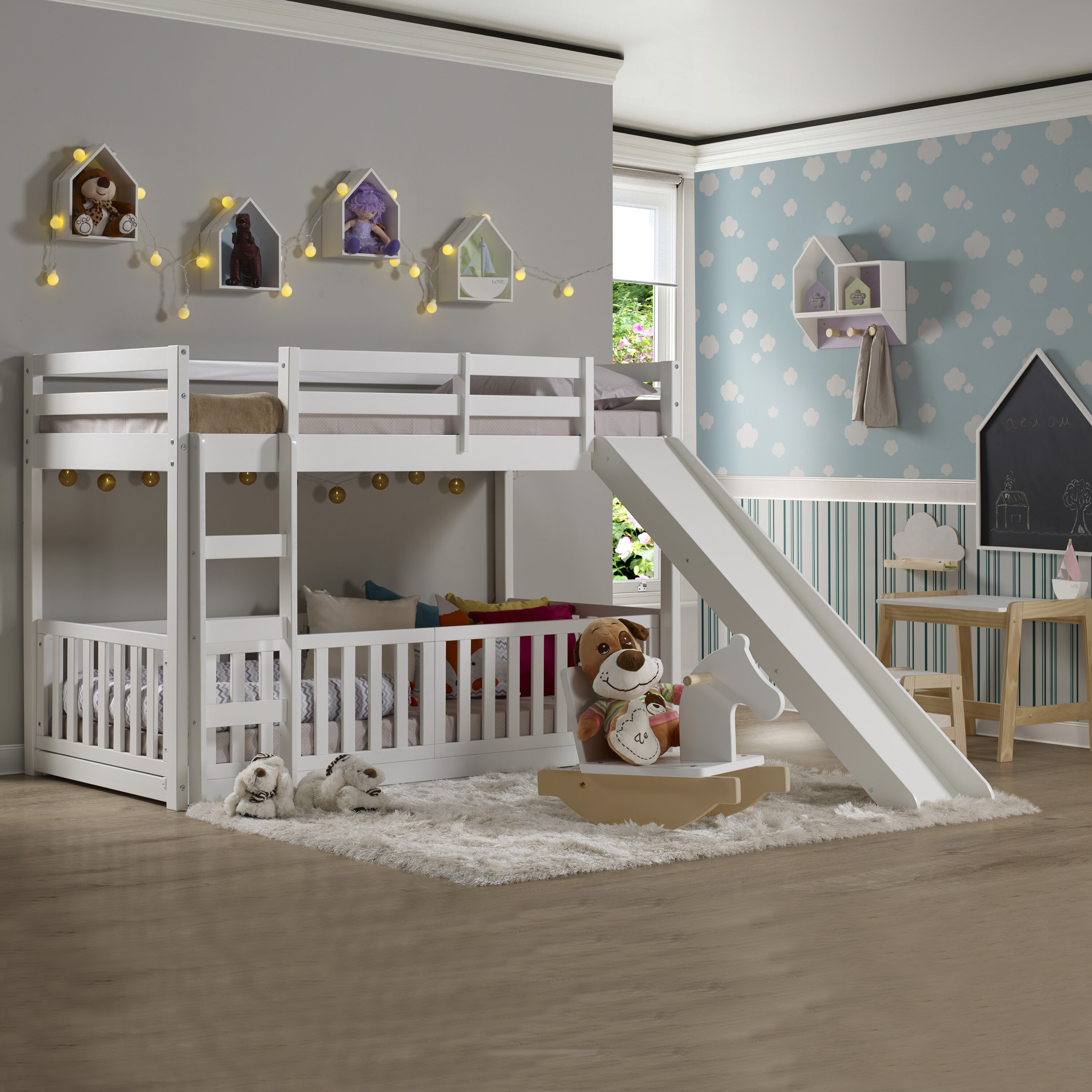 Isabelle Max Aquilla Twin Over Twin Low Loft Bed Reviews Wayfair