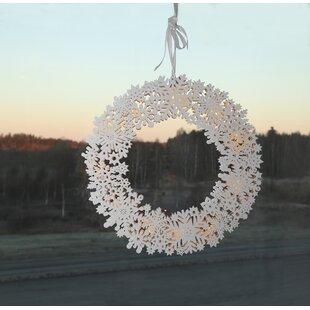 Snow LED Window Wreath By The Seasonal Aisle