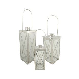 Compare Pillar 3 Piece Stainless Steel Lantern Set By Red Barrel Studio
