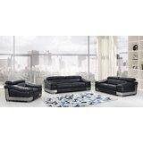 3 Piece Leather Sofa Set | Wayfair