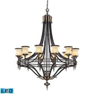 Astoria Grand Barraclough 12-Light Shaded Chandelier