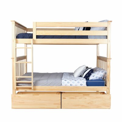 Genial Solid Wood Bunk Bed With Under Bed Storage Drawer