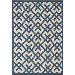 Jefferson Place Navy/Beige Indoor/Outdoor Area Rug