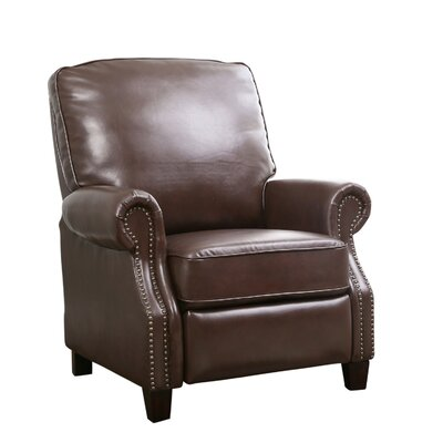 Chenault Manual Recliner Upholstery Color: Mocha Brown by Darby Home Co