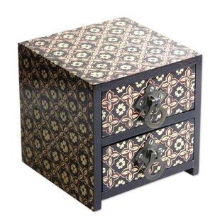 Comparison Batik Floral Wood Jewelry Box ByBungalow Rose