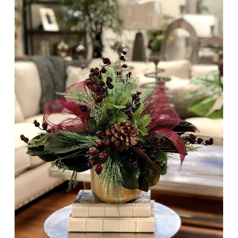 Mixed Floral Arrangement And Centerpiece In Pot Birch Lane