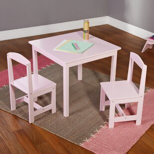 Best Giordano Kids 3 Piece Square Table and Chair Set By Viv + Rae