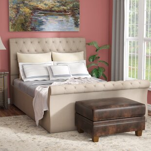 World Menagerie Derrall Upholstered Panel Bed