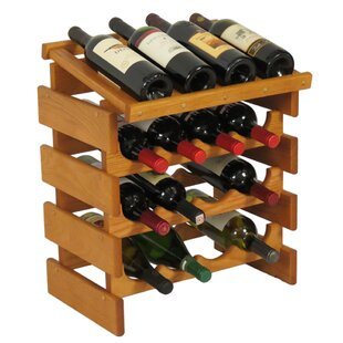 Dakota 16 Bottle Floor Wine Rack by Woode..